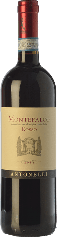 12,95 € Free Shipping | Red wine Antonelli San Marco Rosso D.O.C. Montefalco Umbria Italy Sangiovese, Montepulciano, Sagrantino Bottle 75 cl