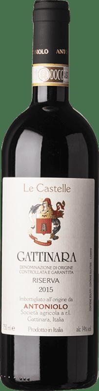 59,95 € Free Shipping | Red wine Antoniolo Le Castelle 2010 D.O.C.G. Gattinara Piemonte Italy Nebbiolo Bottle 75 cl
