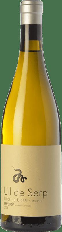 25,95 € 免费送货   白酒 Arché Pagés Ull de Serp Macabeu Crianza D.O. Empordà 加泰罗尼亚 西班牙 Macabeo 瓶子 75 cl