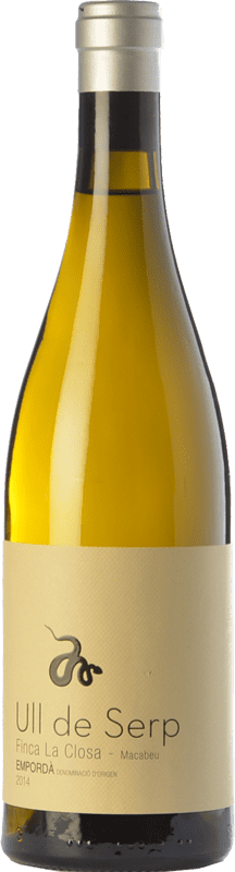 25,95 € Free Shipping | White wine Arché Pagés Ull de Serp Macabeu Crianza D.O. Empordà Catalonia Spain Macabeo Bottle 75 cl