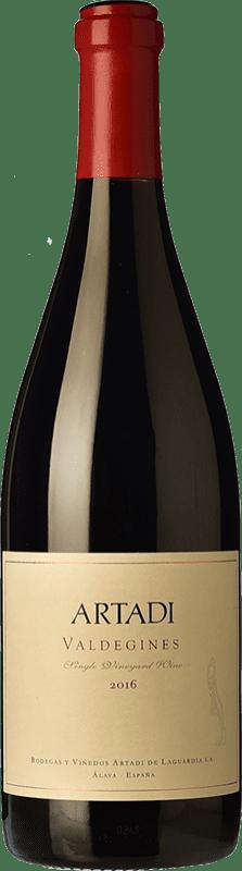 76,95 € Envío gratis | Vino tinto Artadi Valdeginés Crianza D.O.Ca. Rioja La Rioja España Tempranillo Botella Mágnum 1,5 L