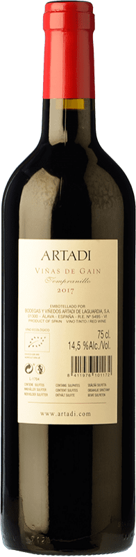 25,95 € Free Shipping | Red wine Artadi Viñas de Gain Crianza D.O.Ca. Rioja The Rioja Spain Tempranillo Bottle 75 cl