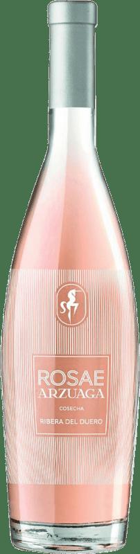 11,95 € Spedizione Gratuita | Vino rosato Arzuaga Rosae D.O. Ribera del Duero Castilla y León Spagna Tempranillo Bottiglia 75 cl