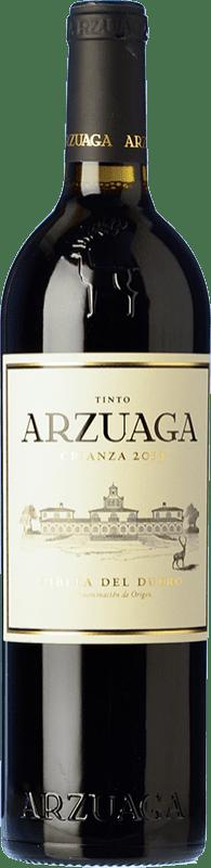 19,95 € Envío gratis | Vino tinto Arzuaga Crianza D.O. Ribera del Duero Castilla y León España Tempranillo, Merlot, Cabernet Sauvignon Botella 75 cl