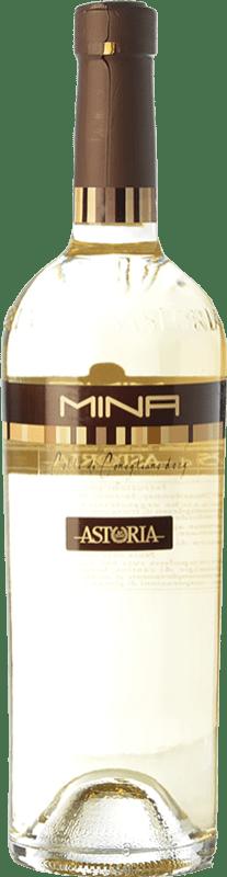 22,95 € Envío gratis | Vino blanco Astoria Mina D.O.C. Colli di Conegliano Veneto Italia Chardonnay, Sauvignon, Incroccio Manzoni Botella 75 cl