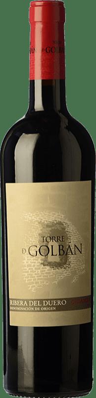 9,95 € | Red wine Atalayas de Golbán Torre de Golbán Crianza D.O. Ribera del Duero Castilla y León Spain Tempranillo Bottle 75 cl
