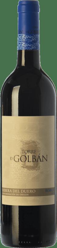 9,95 € Envoi gratuit | Vin rouge Atalayas de Golbán Torre de Golbán Roble D.O. Ribera del Duero Castille et Leon Espagne Tempranillo Bouteille 75 cl