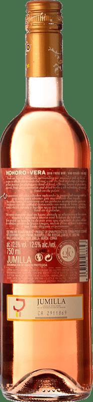 7,95 € Free Shipping | Rosé wine Ateca Honoro Vera Joven D.O. Jumilla Castilla la Mancha Spain Syrah, Monastrell Bottle 75 cl