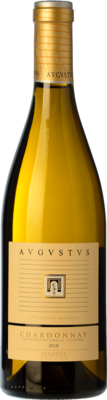19,95 € Free Shipping | White wine Augustus Crianza D.O. Penedès Catalonia Spain Chardonnay Bottle 75 cl