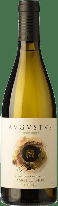 14,95 € Envío gratis | Vino blanco Augustus Microvinificacions +100 Crianza D.O. Penedès Cataluña España Xarel·lo Botella 75 cl