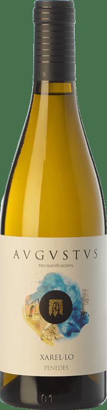 17,95 € Envío gratis | Vino blanco Augustus Microvinificacions de Mar Crianza D.O. Penedès Cataluña España Xarel·lo Botella 75 cl