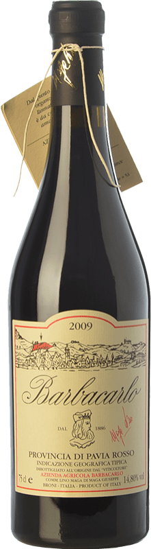 66,95 € Free Shipping | Red wine Barbacarlo 2009 I.G.T. Provincia di Pavia Lombardia Italy Croatina, Vespolina, Rara Bottle 75 cl