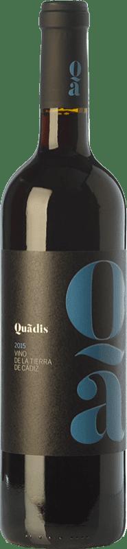 8,95 € 免费送货   红酒 Barbadillo Quadis Joven I.G.P. Vino de la Tierra de Cádiz 安达卢西亚 西班牙 Tempranillo, Merlot, Syrah, Tintilla de Rota 瓶子 75 cl