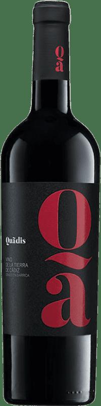 9,95 € | Red wine Barbadillo Quadis Crianza I.G.P. Vino de la Tierra de Cádiz Andalusia Spain Tempranillo, Syrah, Petit Verdot, Tintilla de Rota Bottle 75 cl
