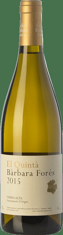16,95 € Free Shipping | White wine Bàrbara Forés El Quintà Crianza D.O. Terra Alta Catalonia Spain Grenache White Bottle 75 cl