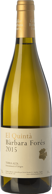 36,95 € Free Shipping | White wine Bàrbara Forés El Quintà Crianza D.O. Terra Alta Catalonia Spain Grenache White Magnum Bottle 1,5 L