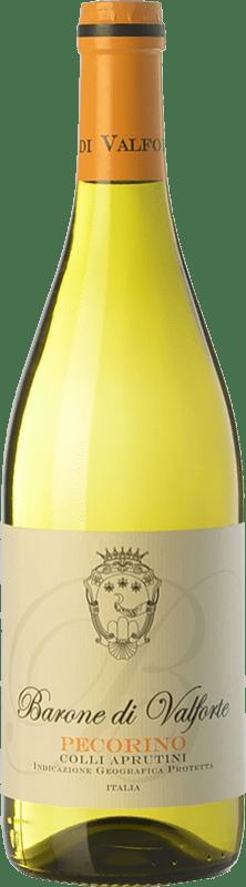 9,95 € Free Shipping | White wine Barone di Valforte I.G.T. Colli Aprutini Abruzzo Italy Passerina Bottle 75 cl