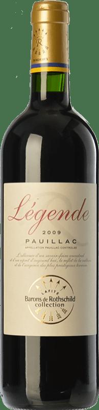 22,95 € Envoi gratuit | Vin rouge Barons de Rothschild Collection Légende Joven A.O.C. Pauillac Bordeaux France Merlot, Cabernet Sauvignon, Cabernet Franc Bouteille 75 cl
