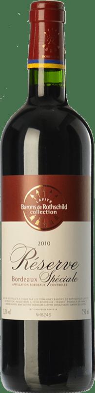 7,95 € Envío gratis | Vino tinto Barons de Rothschild Collection Réserve Spéciale Reserva A.O.C. Bordeaux Burdeos Francia Merlot, Cabernet Sauvignon Botella 75 cl