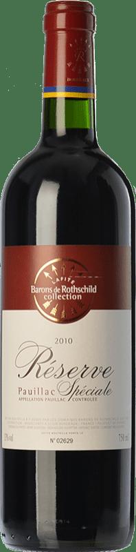 23,95 € Envío gratis | Vino tinto Barons de Rothschild Collection Réserve Spéciale Reserva A.O.C. Pauillac Burdeos Francia Merlot, Cabernet Sauvignon Botella 75 cl