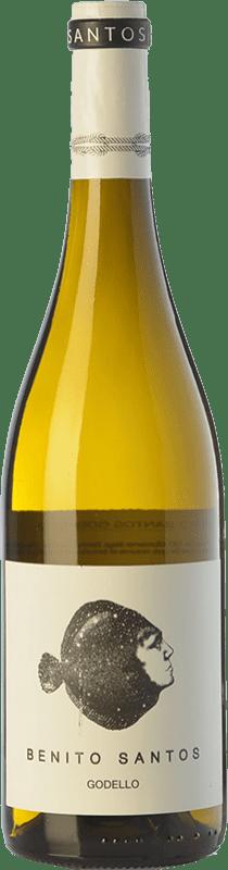 13,95 € Envío gratis | Vino blanco Benito Santos D.O. Monterrei Galicia España Godello Botella 75 cl