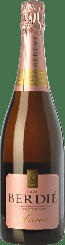 13,95 € Envoi gratuit | Blanc moussant Berdié Amor Brut Reserva D.O. Cava Catalogne Espagne Grenache, Macabeo, Xarel·lo, Parellada Bouteille 75 cl