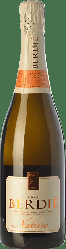 11,95 € Envoi gratuit | Blanc moussant Berdié Brut Nature Reserva D.O. Cava Catalogne Espagne Macabeo, Xarel·lo, Parellada Bouteille 75 cl