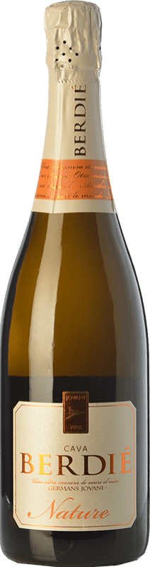 11,95 € Free Shipping | White sparkling Berdié Brut Nature Reserva D.O. Cava Catalonia Spain Macabeo, Xarel·lo, Parellada Bottle 75 cl