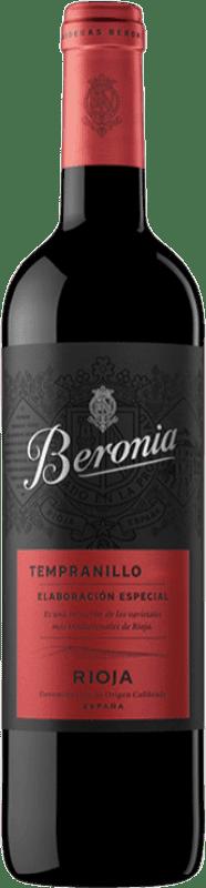 14,95 € Envío gratis | Vino tinto Beronia Producción Especial Joven D.O.Ca. Rioja La Rioja España Tempranillo Botella 75 cl