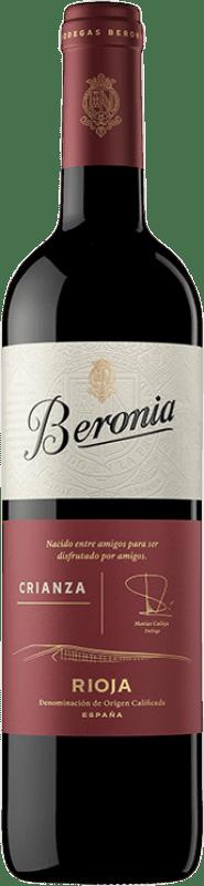 6,95 € Free Shipping | Red wine Beronia Crianza D.O.Ca. Rioja The Rioja Spain Tempranillo, Grenache, Graciano Bottle 75 cl