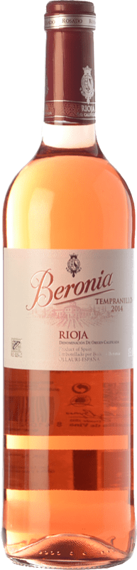 8,95 € Envoi gratuit | Vin rose Beronia D.O.Ca. Rioja La Rioja Espagne Tempranillo Bouteille 75 cl