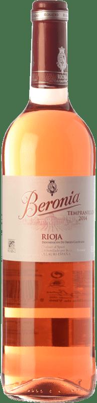 8,95 € Spedizione Gratuita | Vino rosato Beronia D.O.Ca. Rioja La Rioja Spagna Tempranillo Bottiglia 75 cl