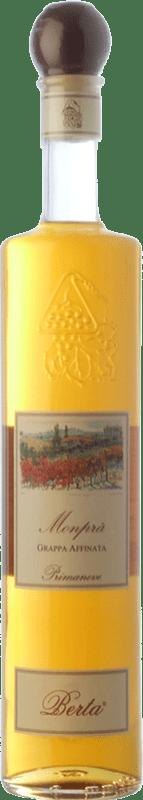 49,95 € Free Shipping | Grappa Berta Monprà Affinata Primaneve Piemonte Italy Bottle 70 cl