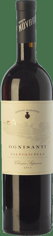 19,95 € Free Shipping | Red wine Bertani Classico Superiore Ognisanti D.O.C. Valpolicella Veneto Italy Corvina, Rondinella Bottle 75 cl