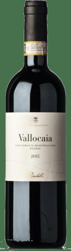 39,95 € Free Shipping | Red wine Bindella Vallocaia D.O.C.G. Vino Nobile di Montepulciano Tuscany Italy Sangiovese, Colorino Bottle 75 cl