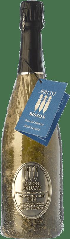 47,95 € Free Shipping | White sparkling Bisson Abissi Dosage Zero Riserva Reserva I.G.T. Portofino Liguria Italy Vermentino, Bianchetta Bottle 75 cl
