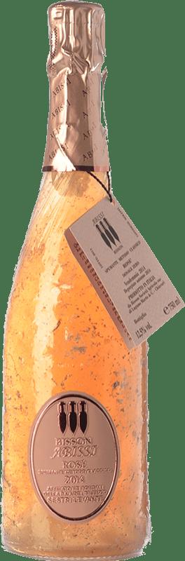 47,95 € Free Shipping | Rosé sparkling Bisson Abissi Rosé Dosage Zero I.G.T. Vino Spumante di Qualità Italy Ciliegiolo, Granazza Bottle 75 cl