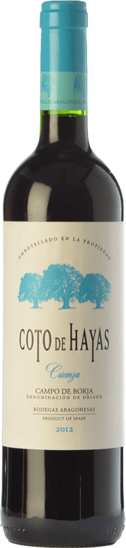 5,95 € 免费送货   红酒 Bodegas Aragonesas Coto de Hayas Crianza D.O. Campo de Borja 阿拉贡 西班牙 Tempranillo, Grenache 瓶子 75 cl