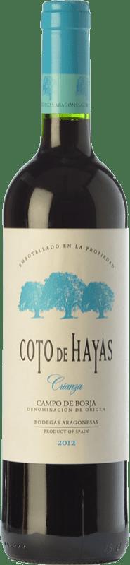 5,95 € Envío gratis | Vino tinto Bodegas Aragonesas Coto de Hayas Crianza D.O. Campo de Borja Aragón España Tempranillo, Garnacha Botella 75 cl