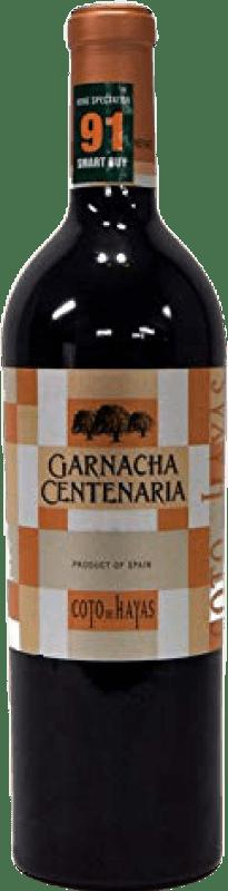 14,95 € Envío gratis | Vino tinto Bodegas Aragonesas Coto de Hayas Centenaria Joven D.O. Campo de Borja Aragón España Garnacha Botella 75 cl