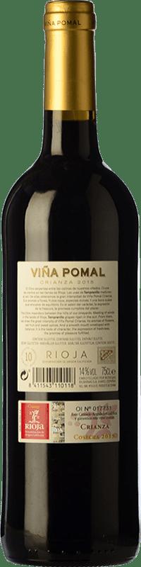 8,95 € Free Shipping | Red wine Bodegas Bilbaínas Viña Pomal Centenario Crianza D.O.Ca. Rioja The Rioja Spain Tempranillo Bottle 75 cl