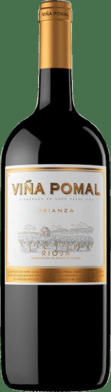 9,95 € Free Shipping | Red wine Bodegas Bilbaínas Viña Pomal Centenario Crianza D.O.Ca. Rioja The Rioja Spain Tempranillo Magnum Bottle 1,5 L