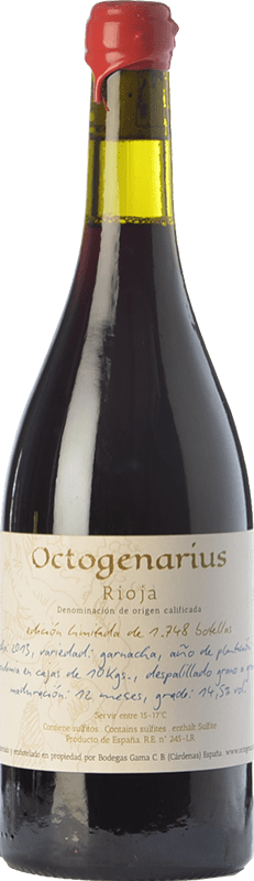 54,95 € 免费送货 | 红酒 Gama Octogenarius Crianza D.O.Ca. Rioja 拉里奥哈 西班牙 Grenache 瓶子 75 cl