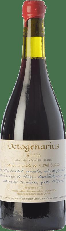 54,95 € Envoi gratuit | Vin rouge Gama Octogenarius Crianza D.O.Ca. Rioja La Rioja Espagne Grenache Bouteille 75 cl