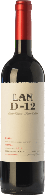 13,95 € Free Shipping | Red wine Lan D-12 Crianza D.O.Ca. Rioja The Rioja Spain Tempranillo Bottle 75 cl