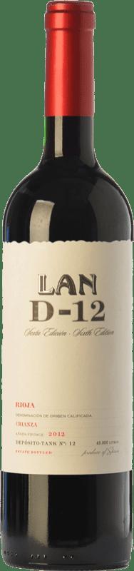 13,95 € Envío gratis | Vino tinto Lan D-12 Crianza D.O.Ca. Rioja La Rioja España Tempranillo Botella 75 cl