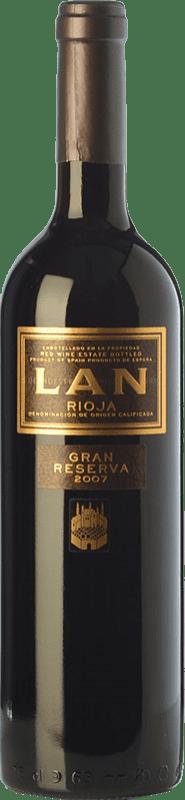 22,95 € Envío gratis | Vino tinto Lan Gran Reserva D.O.Ca. Rioja La Rioja España Tempranillo, Mazuelo Botella 75 cl
