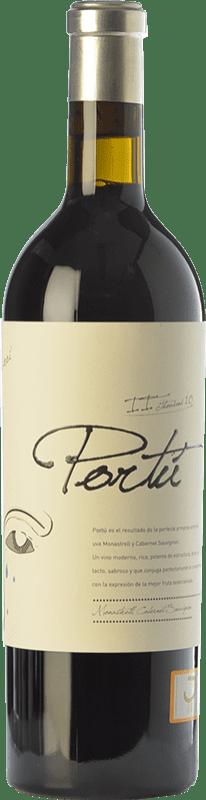 24,95 € Envío gratis | Vino tinto Luzón Portú Crianza D.O. Jumilla Castilla la Mancha España Cabernet Sauvignon, Monastrell Botella 75 cl