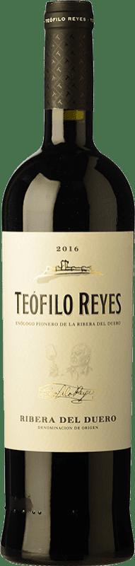 14,95 € 免费送货 | 红酒 Teófilo Reyes Crianza D.O. Ribera del Duero 卡斯蒂利亚莱昂 西班牙 Tempranillo 瓶子 75 cl