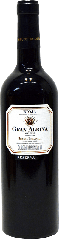 22,95 € | Red wine Bodegas Riojanas Gran Albina Reserva D.O.Ca. Rioja The Rioja Spain Tempranillo, Graciano, Mazuelo Bottle 75 cl